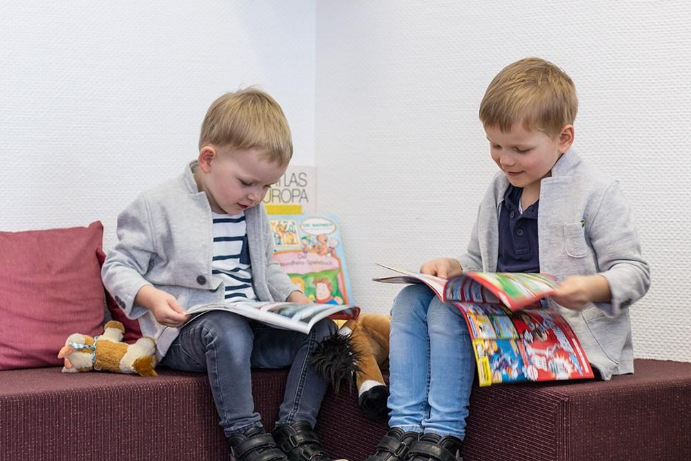 Spielecke für Kinder im Wartezimmer